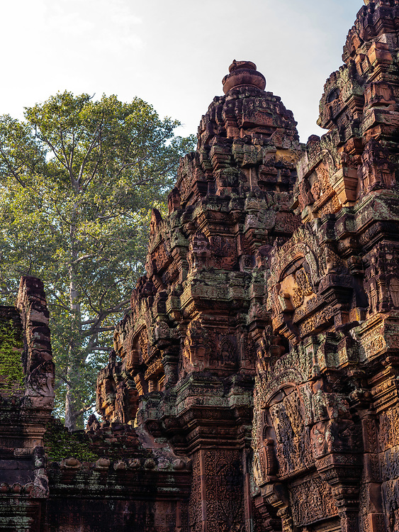 Image of Bantay Sreay Temple, a part of the Ankor Wat Archeological Park, near Siem Reap, Cambodia.