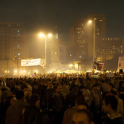 Thousands gathered in Cairo's Tharir Square in a sign of protest against the interim government.