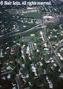 Southcentral Pennsylvania, Aerial Photographs, York County, PA, Red Land School, I-83