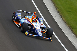 May 18, 2018 - Indianapolis, Indiana, United States of America - JR HILDEBRAND (66) of the United States brings his car through turn one during ''Fast Friday'' practice for the Indianapolis 500 at the Indianapolis Motor Speedway in Indianapolis, Indiana. (Credit Image: © Chris Owens Asp Inc/ASP via ZUMA Wire)