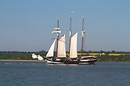 Dutch sailing barge in River Orwell