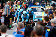 Astana Pro Team during the 2018 UCI Road World Championships, Men's Team Time Trial cycling race on September 23, 2018 in Innsbruck, Austria - Photo Luca Bettini / BettiniPhoto / ProSportsImages / DPPI