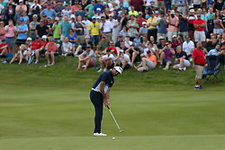 June 24, 2018 - Cromwell, Connecticut, United States - Bubba Watson putts the 17th green during the final round of the Travelers Championship at TPC River Highlands. (Credit Image: © Debby Wong via ZUMA Wire)