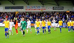 Bristol Rovers' Lee Mansell leads out his side - Photo mandatory by-line: Neil Brookman/JMP - Mobile: 07966 386802 - 01/11/2014 - SPORT - Football - Telford - New Bucks Head Stadium - AFC Telford v Bristol Rovers - Vanarama Football Conference