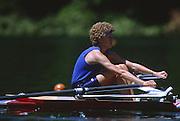 Lucerne, SWITZERLAND.  USA LW1X, Kris KARLSON  1988  Lucerne International Regatta, Lake Rotsee. June 1988 [Mandatory Credit - Peter Spurrier/Intersport Images] 1988 Lucerne International Regatta