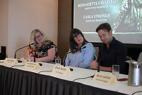 Casting Director Carla Stronge, Associate Producer Alanna Riddell Bond, Co-Producer Oliver Butler, at the 'The Game Of Thrones Effect' Panel Discussion at the Galway Film Fleadh, The Galmont Hotel, Galway, Ireland. Saturday 14th July 2018
