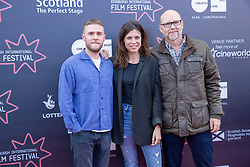 Judges photocall at Edinburgh International Film Festival<br /> <br /> Pictured: Iain De Caestecker, Ana Ularu, Jason Connery (Michael Powell Jury)