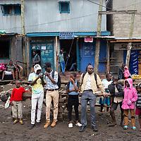 Street scene in Mukur Kwa Njenga, Nairobi.