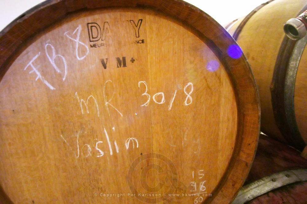 Vaslin (wine from the Vaslin press). Domaine Le Conte des Floris, Caux. Pezenas region. Languedoc. Barrel cellar. France. Europe.