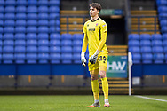 Cheltenham Town goalkeeper Josh Griffiths (20)  during the EFL Sky Bet League 2 match between Bolton Wanderers and Cheltenham Town at the University of  Bolton Stadium, Bolton, England on 16 January 2021.