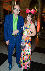 ROBIN WHITE and COUNTESS PAOLA KOVACZ VON CSAKY at a party hosted by Cutler and Gross to celebrate the 30th anniversary of design director Marie Wilkinson held at the V&A Museum, Cromwell Road, London on 26th June 2013.