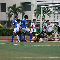 Temasek Junior College, Tuesday, April 9, 2013 — Meridian Junior College (MJC) defeated Temasek Junior College (TJC) 4–0 in the first round of the National A Division Football Championship for their second win of the season.<br /> <br /> Story: http://www.redsports.sg/2013/04/12/a-div-football-mjc-tjc/