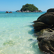 Turquoise water and rocks of Andaman sea on Ko Lipe, Thailand