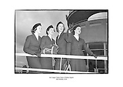 Aer Lingus Cabin Crew at Dublin Airport.<br /> <br /> 02/02/1958<br /> <br /> 2nd February 1952