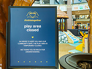 11 JUNE 2020 - WEST DES MOINES: The play area in Jordan Creek Mall. Jordan Creek Mall in West Des Moines is still nearly empty  after it reopened about two weeks ago. Many stores are still closed, the food court is still closed, and many of the restaurants are closed.         PHOTO BY JACK KURTZ