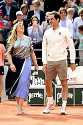May 29, 2019 - Paris, France, FRANCE - Marion Bartoli et Roger Federer  (Credit Image: © Panoramic via ZUMA Press)