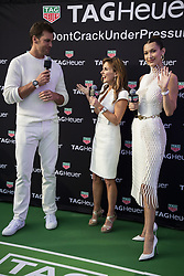 Tom Brady, Bella Hadid, Geri Halliwell attend the Tag Heuer gala night (Don't crack under pressure) aboard a boat at Port Hercule during the 76th Grand Prix of Monaco in Monaco, on may 26, 2018. Photo by Marco Piovanotto/ABACAPRESS.COM