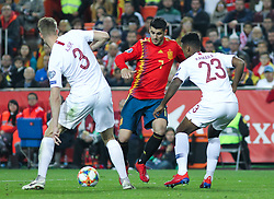 March 23, 2019 - Valencia, Valencia, Spain - Morata of Spain in action during European Qualifiers championship, , football match between Spain and Norway, March 23th, in Mestalla Stadium in Valencia, Spain. (Credit Image: © AFP7 via ZUMA Wire)