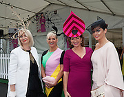 30/07/2015 report free : Winners Announced in Kilkenny Best Dressed Lady, Kilkenny Best Irish Design & Kilkenny Best Hat Competition at Galway Races Ladies Day <br /> At the event was The Judges Bairbre Power, Irish Independent Fashion editor ,  Melanie Morris Image Magazine, Maura Derrane RTE,  and Mandy Maher , Catwalk Models and Photo:Andrew Downes, xposure