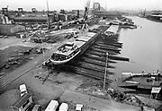 Nederland, Nijmegen, 15-1-1980<br /> Scheepswerf Gelria in betere tijden.<br /> Foto: Flip Franssen