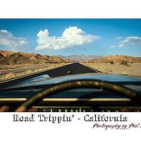Road Tripping through the California desert in a 1970 Cadillac.