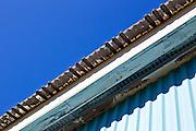 Tin roof at the Heath Fairgrounds in Heath, Massachusetts.