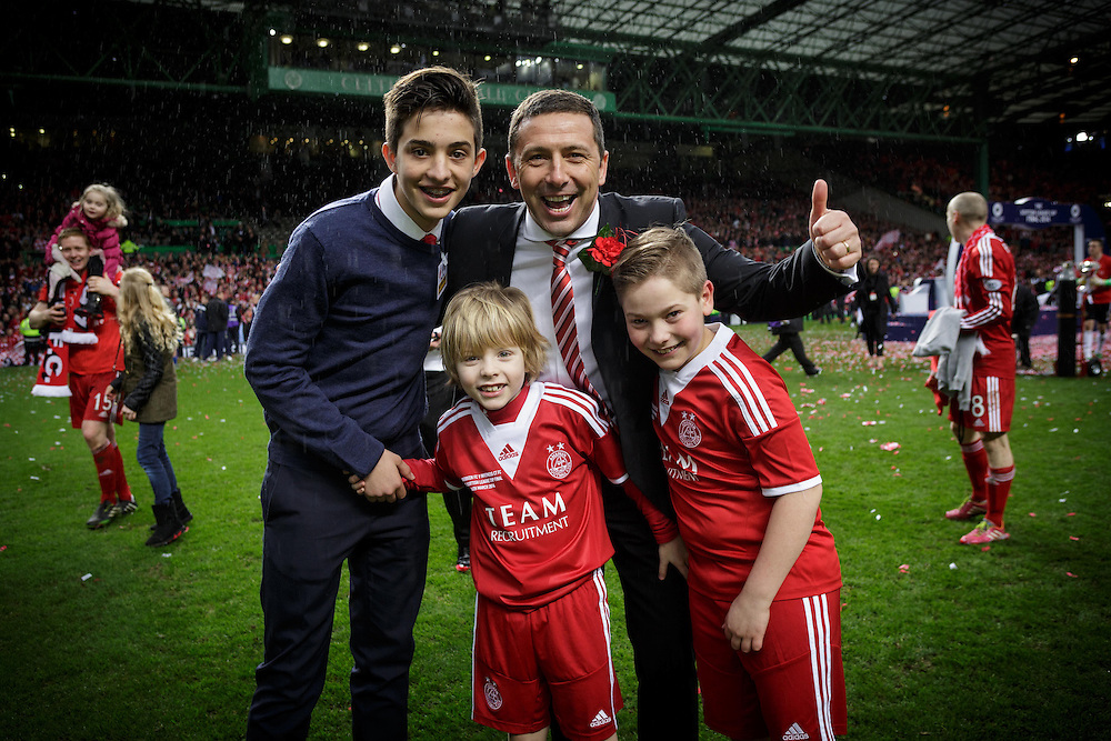 Scottish League Cup Final Aberdeen V Inverness CT at Parkhead on Sunday, 16th of March 2014, Aberdeen Scotland.<br /> Pictured: Manager Derek McInnes<br /> (Photo Ross Johnston/Newsline Scotland)