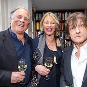 NLD/Amsterdam/20150331 - Boekpresentatie Altijd Viareggio van Rick Nieman, Jan Cremer en partner Babette Cremer-Sijmons en Wim T. Schippers