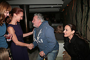 VICTORIA HOPPER, DAVID BAILEY AND CATHERINE BAILEY, Party hosted by Larry Gagosian at Nobu, Berkeley St. London. 9 October 2007. -DO NOT ARCHIVE-© Copyright Photograph by Dafydd Jones. 248 Clapham Rd. London SW9 0PZ. Tel 0207 820 0771. www.dafjones.com.