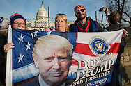 Trump supporters in front of the Capitol Building the day before the  Inauguration of Donald Trump as 45th President in Washgington D.C.
