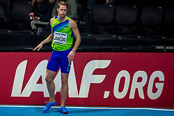BIRMINGHAM, ENGLAND - MARCH 02: Luka Janezic of Slovenia during round 1 of the Men's 400m at the IAAF World Indoor Championships at Arena Birmingham on March 2, 2018 in Birmingham, England. Photo by Ronald Hoogendoorn / Sportida