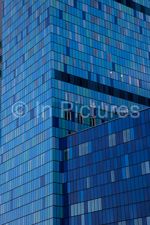 Britain's biggest new hospital The Royal London and Barts. After many years in the planning the Department of Health gave its approval for the construction of new hospitals at The Royal London and Barts, and construction is nearly complete on state-of-the-art new buildings which will sit behind the historic front block overlooking the Whitechapel Road. This blue glass structure is massive in scale and a modern architectural testiment to the NHS.