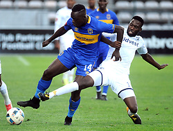 Cape Town-180224 Cape Town City Nana Akosah-Bempah challenging for a ball as WIts Buhle Mkhwanazi defending in their PSL game in Athlone Picture Ayanda Ndamane/African News Agency/ANA