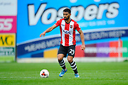 Luke Croll (29) of Exeter City during the EFL Sky Bet League 2 match between Exeter City and Accrington Stanley at St James' Park, Exeter, England on 11 March 2017. Photo by Graham Hunt.