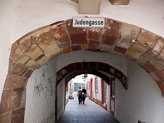 Duitsland, Trier, 21-10-2013Stad in de Eifel met rijke romeinse geschiedenis.Judengasse,jodensteeg,joden,bezienswaardigheid,attractie,trekpleister,monument,landmarkFoto: Flip Franssen/Hollandse Hoogte