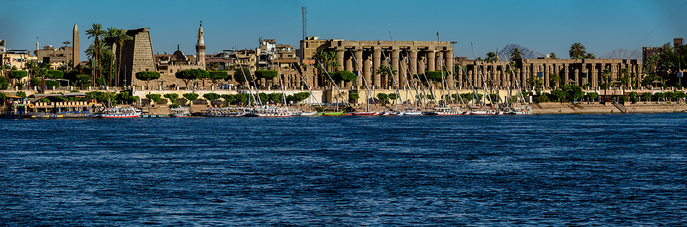 Luxor Temple viewed from the West Bank of the Nile