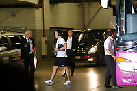 FOOTBALL - UEFA EURO 2012 - DONETSK - UKRAINE  - 1/4 FINAL - SPAIN v FRANCE - 23/06/2012 - PHOTO PHILIPPE LAURENSON /  DPPI - SAMIR NASRI (FRA) ARRIVES IN DONBASS ARENA