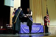 SHOT 5/10/15 3:08:37 PM - Naropa University Spring 2015 Commencement ceremonies at Macky Auditorium in Boulder, Co. Sunday. Parker J. Palmer, a world-renowned author and activist known for his work in education and social change, delivered the commencement speech to more than 300 graduate and undergraduate students along with Naropa faculty and graduate's family members. Naropa University is a private liberal arts college in Boulder, Colorado founded in 1974 by Tibetan Buddhist teacher and Oxford University scholar Chögyam Trungpa. (Photo by Marc Piscotty / © 2014)