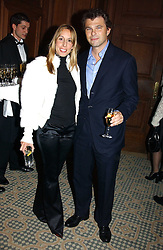 MR & MRS JONATHAN SIEFF she is the daughter of property developer Elliot Bernerd at a dinner hosted by footballer Patrick Vieira and the Diambars UK Charital Trust at The Landmark Hotel, 222 Marylebone Road, London NW1 on 3rd February 2005.<br />