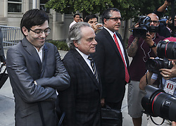 August 4, 2017 - Brooklyn, New York, U.S. - 'Pharma Bro' MARTIN SHKRELI, 34, leaves court after a jury fails to reach a verdict where faces up to 20 years in prison on security fraud charges at Brooklyn Federal Court on Thursday. The former biotech CEO, who was nicknamed 'Pharma Bro', is best known for hiking up the price of a life-saving drug.  (Credit Image: © Byron Smith via ZUMA Wire)