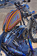 This 2007 Jesse Rooke Bobber was sitting in front of Southside Choppers in St. Petersburg.One of 26 made.