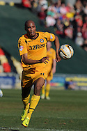 Newport county's Chris Zebroski in action. Skybet football league two match, Newport county v Exeter city at Rodney Parade in Newport, South Wales on Sunday 16th March 2014.<br /> pic by Andrew Orchard, Andrew Orchard sports photography.