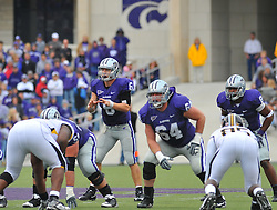 Nov 14, 2009; Manhattan, KS, USA; Kansas State qurterback Grant Gregory (6) goes under center in the first half against the Missouri Tigers at Bill Snyder Family Stadium. Mandatory Credit: Denny Medley-US PRESSWIRE