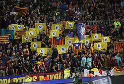 October 21, 2017 - Barcelona, Catalonia, Spain - political protesting during La Liga match between FC Barcelona v Malaga CF, in Barcelona, on October 21, 2017. (Credit Image: © Joan Valls/NurPhoto via ZUMA Press)