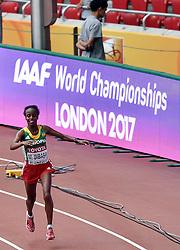 30-08-2015 CHN: IAAF World Championships Athletics day 9, Beijing<br /> Mare Dibaba heeft zondag de marathon op de WK atletiek in Peking gewonnen. De Ethiopische behaalde het goud in een tijd van 2.27.35.<br /> Photo by Ronald Hoogendoorn / Sportida