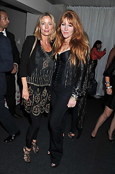 Left to rightm LUCIE DE LA FALAISE and CHARLOTTE TILBURY at a party hosted by Rimmel London to celebrate the 10 year partnership with Kate Moss held at Battersea Power Station, London SW8 on 15th September 2011.