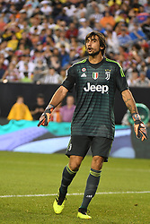 July 25, 2018 - Philadelphia, PA, U.S. - PHILADELPHIA, PA - JULY 25:  Juventus goal keeper Mattia Perin (19) reacts during a International Champions Cup match between Juventus and FC Bayern Munich on July 25,2018, at Lincoln Financial Field in Philadelphia,PA. Juventus won 2-0. (Photo by Andy Lewis/Icon Sportswire) (Credit Image: © Andy Lewis/Icon SMI via ZUMA Press)