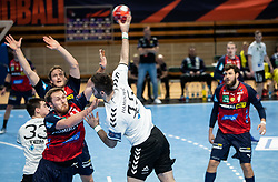 Dino Hamidovic of Trimo Trebnje during handball match between RK Trimo Trebnje and Rhein-Neckar Loewen in 6th Round of EHF Europe League 2020/21, on February 9, 2021 in Hala Tivoli, Ljubljana, Slovenia. Photo by Vid Ponikvar / Sportida