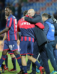 December 17, 2017 - Crotone, KR, Italy - Head coach of Crotone Walter Zenga celebrates with his players the win of the Serie A match between FC Crotone and AC Chievo Verona at Stadio Comunale Ezio Scida on December 17, 2017 in Crotone, Italy. (Credit Image: © Gabriele Maricchiolo/NurPhoto via ZUMA Press)