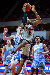 NORMAL, IL - February 08: Keith Fisher III  passes the sycamores defenders for a lay up during a college basketball game between the ISU Redbirds and the Indiana State Sycamores on February 08 2020 at Redbird Arena in Normal, IL. (Photo by Alan Look)